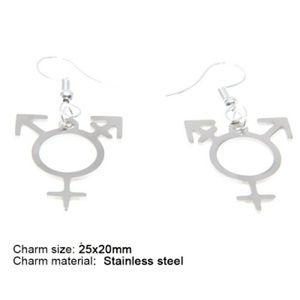 Jewelry - Transgender Nonbianary Pride Earrings ADD ON FREE